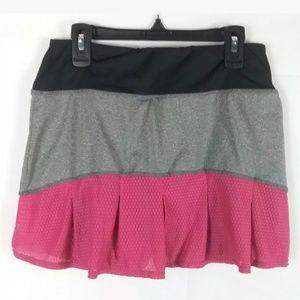 REEBOK GRAY BLACK PINK SIZE SMALL Tennis Skort   S